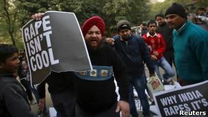 Protesty v Indiji